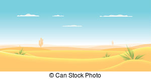 ... Deep Western Desert - Illustration of a cartoon desert.