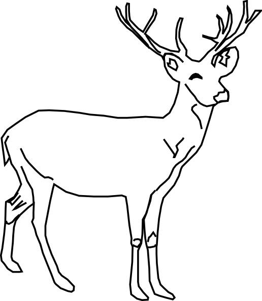 Deer clip art Free vector 78.37KB