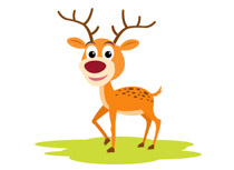 Deer ruminant animal with antlers clipart. Size: 58 Kb