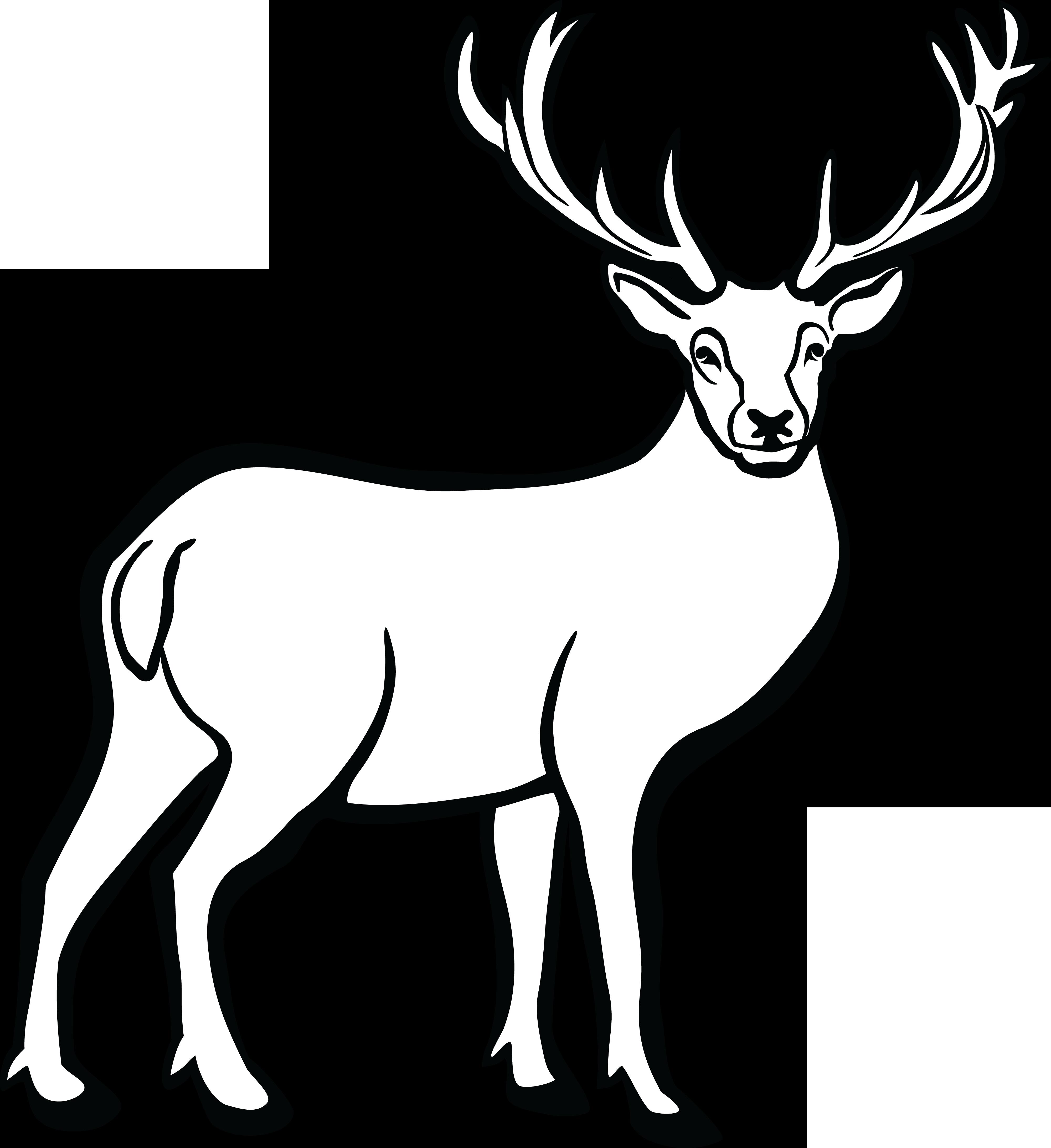 Free Clipart Of A buck deer #00011476 .