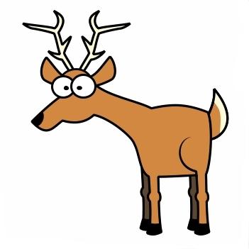 Happy Deer Clipart #1