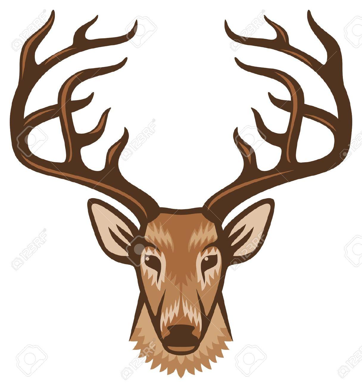 Deer face clipart - ClipartFest