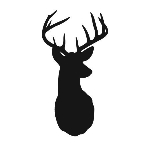 Deer Head Silhouette Clip Art   Printables, Coloring, and Fonts   Pinterest   Vinyls, Deer with antlers and Graphics