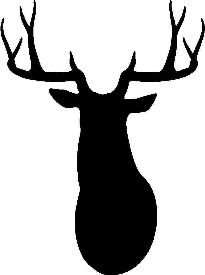 ... Deer Head Silhouette Clip Art - clipartall ...