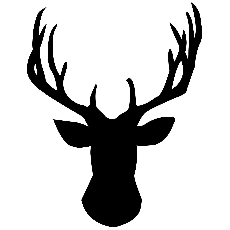 Deer Head Silhouette Vector .