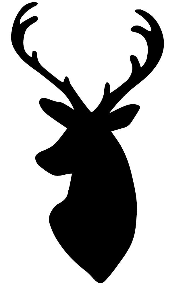 deer head silouette   My dear husband whipped up this deer head silhouette pattern for me