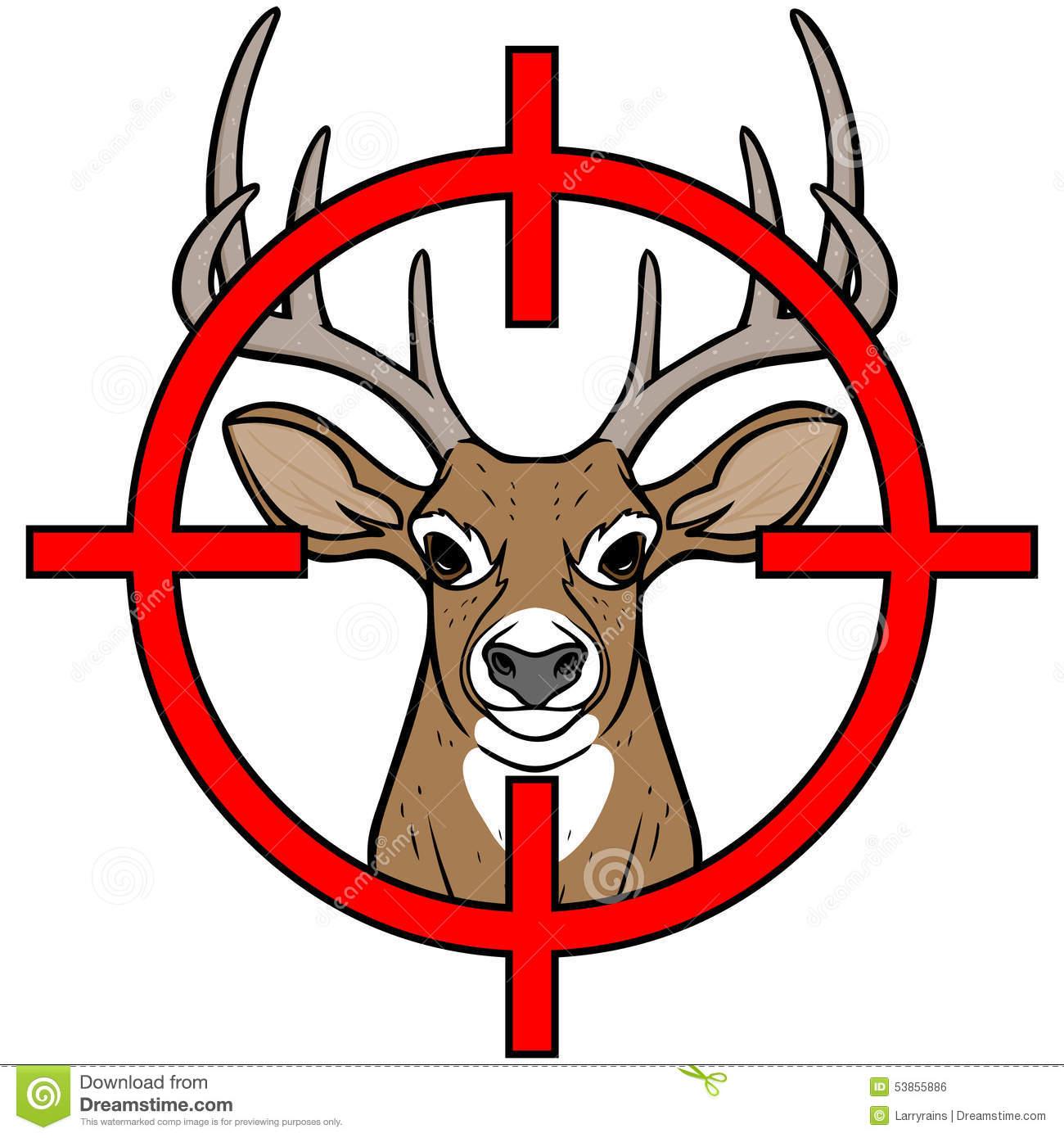 Deer Hunting Royalty Free .