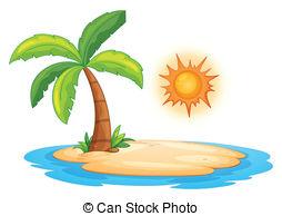 ... Desert island - Illustration of a desert island