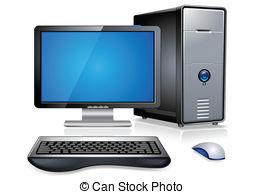 Desktop computer Clipartby scanrail1/46; Realistic Desktop Computer PC Workstation Terminal detailed.