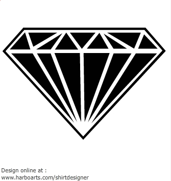Black diamond clipart