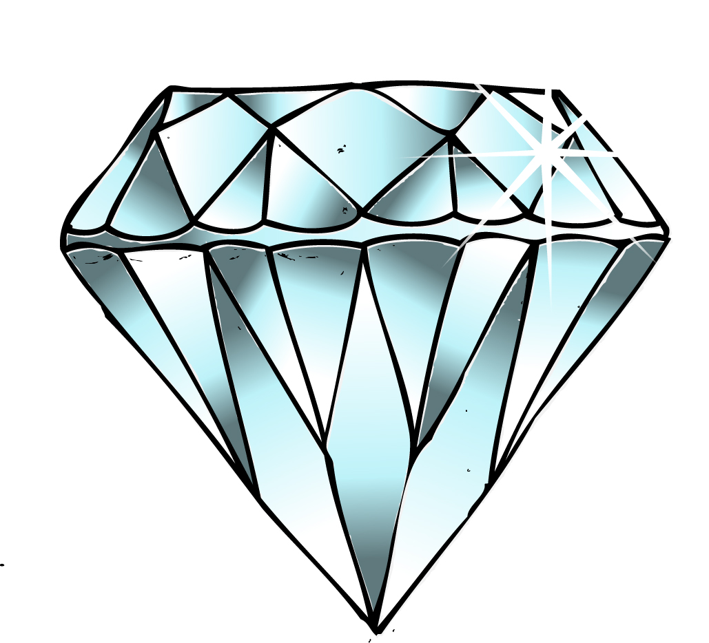 Diamond drawing clipart kid