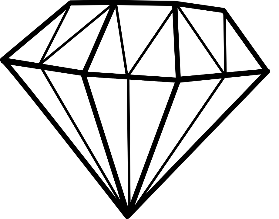 Gems clipart diamond outline #8