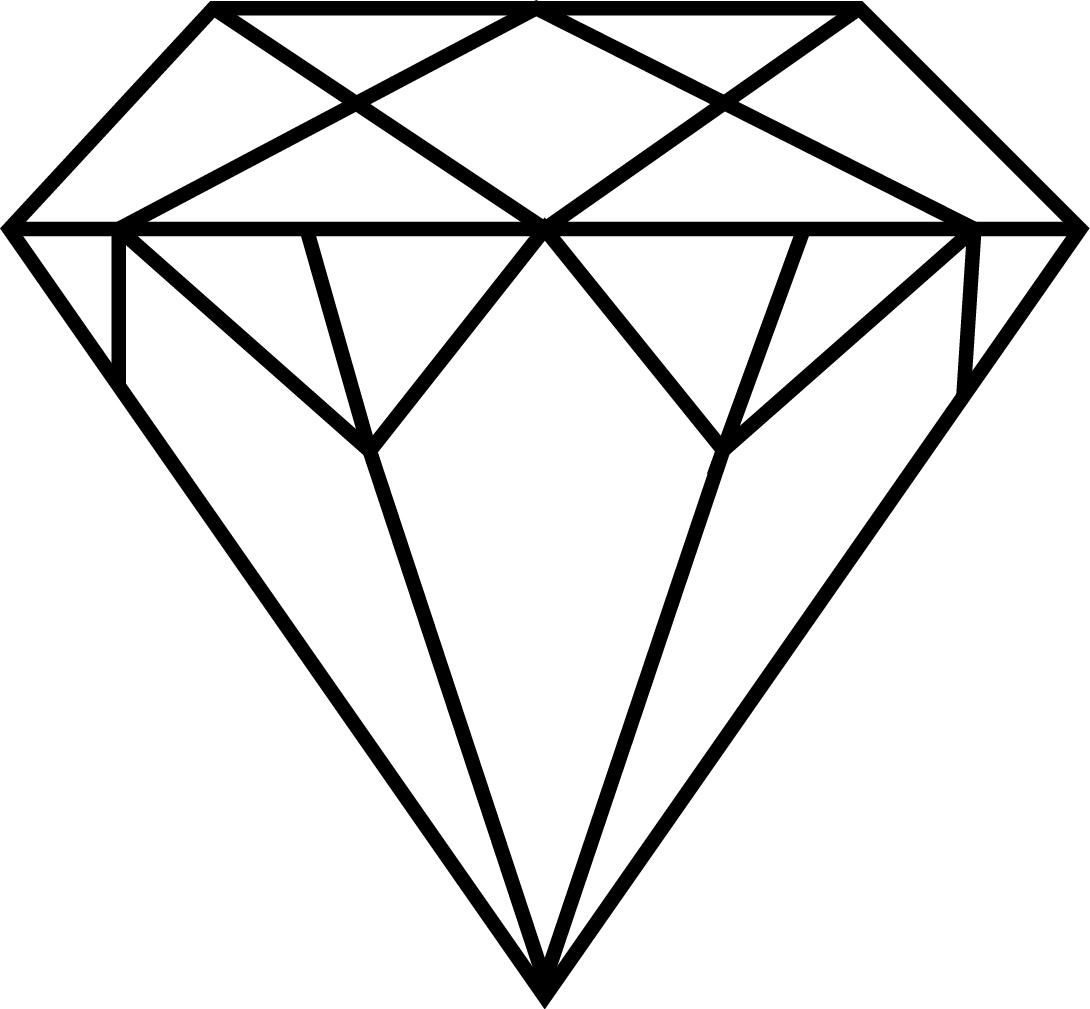 Diamond outline clip art clipart 2 image
