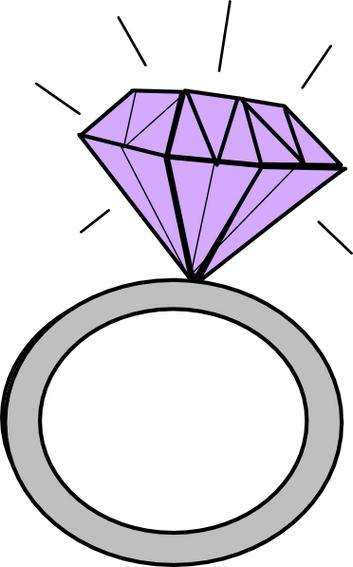 Diamond ring clip art free clipart images