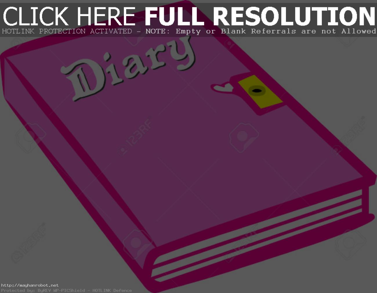 40654179 Write Down Those Fun Memories In A Pretty Pink Diary Under Lock  And Key Of Course Super Cute On Room Clip Art