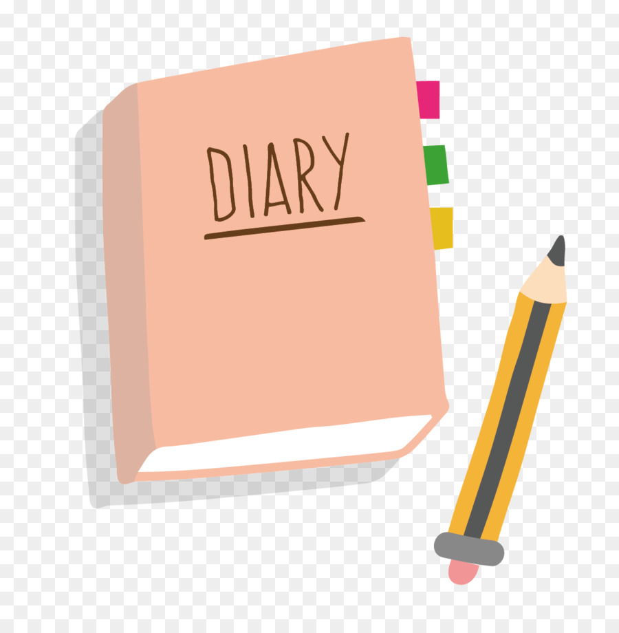 Diary Clip art - Vector diary and pen