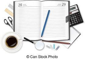 Diary Clip Artby christopherhall13/932 Cup of fragrant coffee diary. Vector.