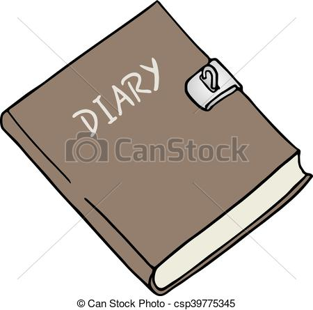 Diary Illustration - Diary Clipart