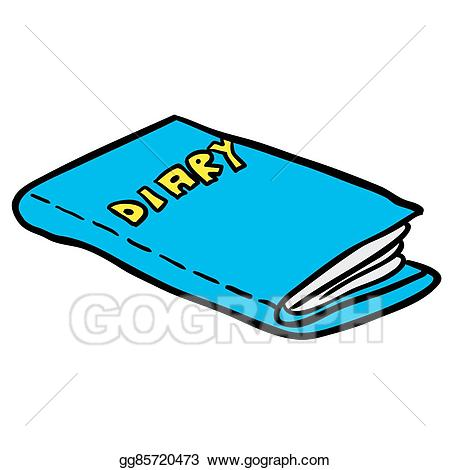 freehand drawn cartoon diary