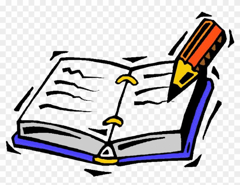 Homework Diary Clipart - Journal Clipart