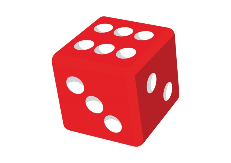 Red dice - download free vector clipart