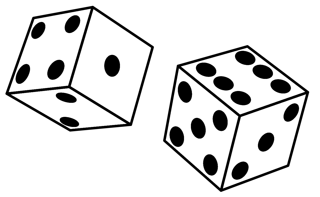 Rolling Dice Clipart #1