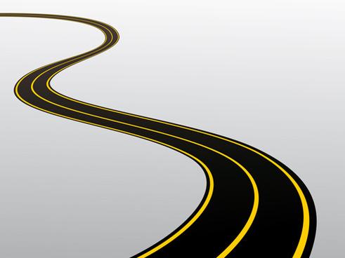 different winding road design vector