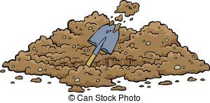 ... Digging hole on a white background vector illustration