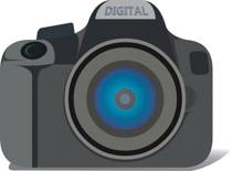 Digital camera clipart. Size: 73 Kb
