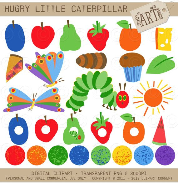 Digital Clipart Hungry Little Caterpillar DC5081 by ClipArtCorner, $3.50
