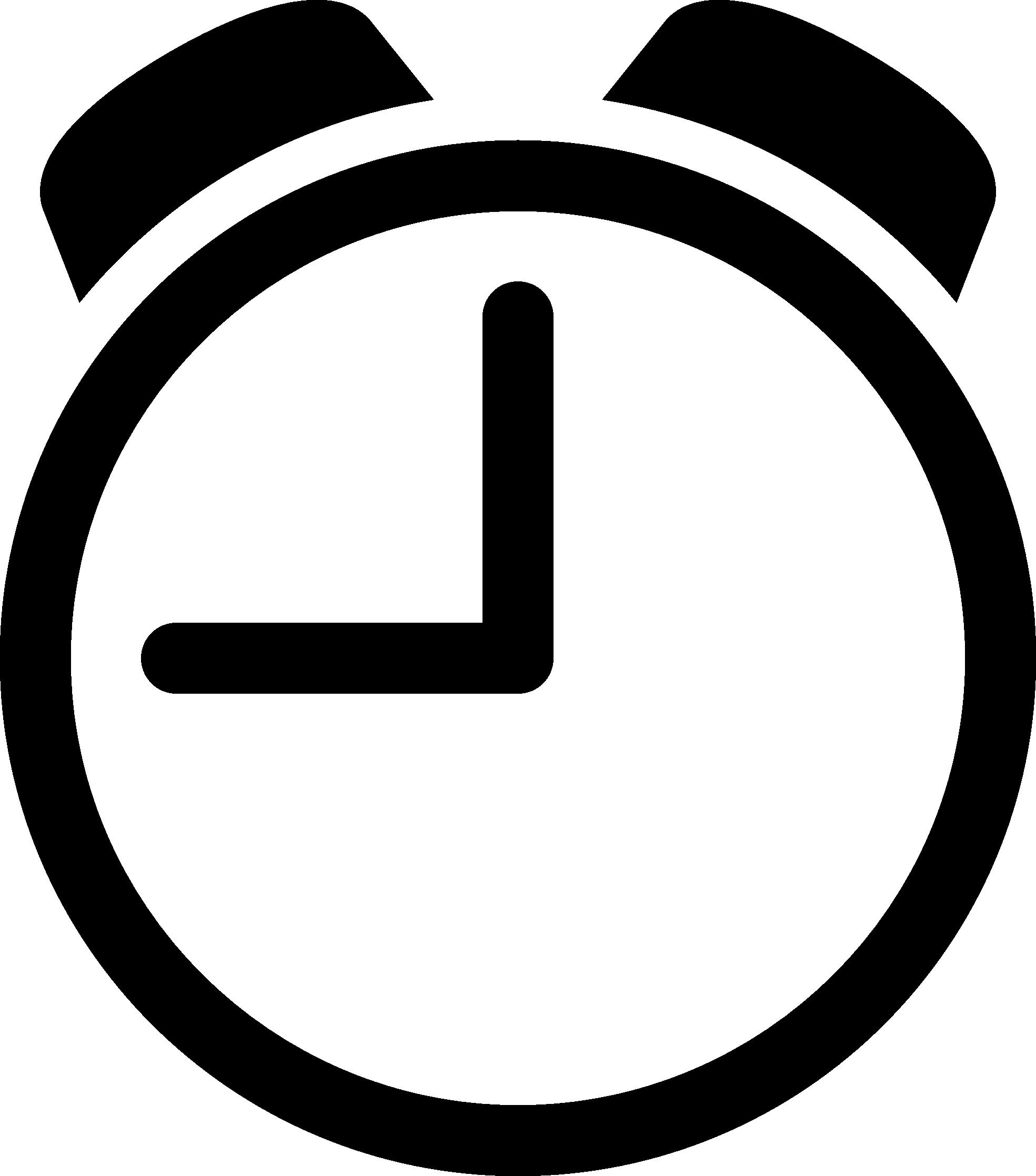 Digital clock clipart black