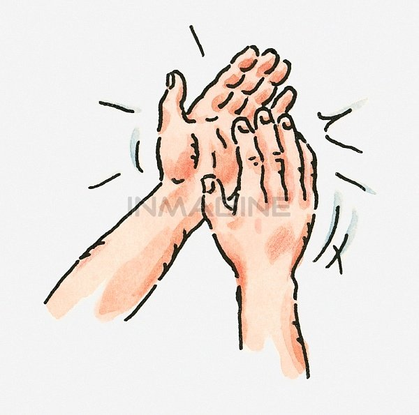 Digital Illustration Of Pair Of Clapping Hands Stock Photos Pictures