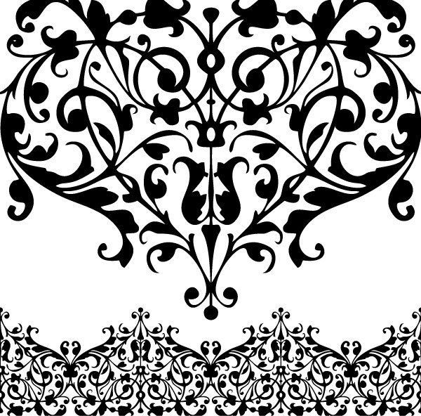 Digital Lace Border Clip Art Png Eps Rusteam 4 00 Via Etsy