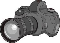 Digital Slr Camera Clipart Size: 96 Kb
