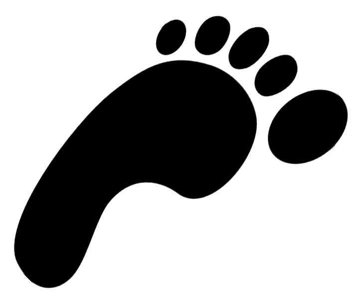 dinosaur footprint clipart