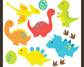 Dinosaur ClipArt / Dinosaur Clip Art / Dino Clipart / Dino Clip Art / Tyrex ClipArt / Brontosaurus Clip Art / Commercial u0026amp; Personal