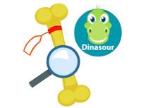 Dinosaur Femer Bone Examination Prehistoric Clipart Size: 67 Kb