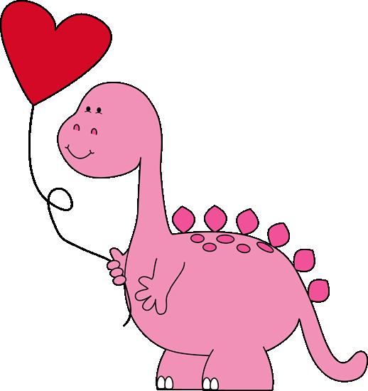 Dinosaur Valentine Balloon