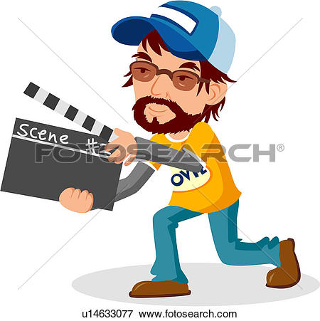 Movie clipart film director #2