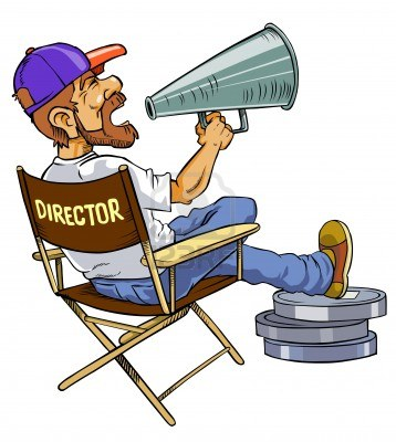 Movie director clipart