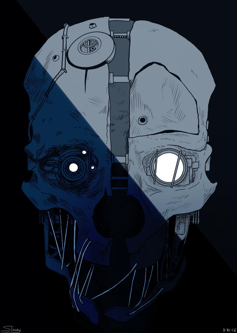 [DH] Corvo Attano Mask Nerd Stuff, Dishonored Mask, Game Art, Clip