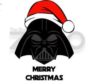 Disney Christmas - Darth Vader Santa Digital Clipart