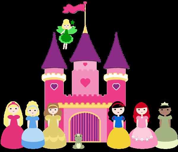Disney Princess Castle Clip Art
