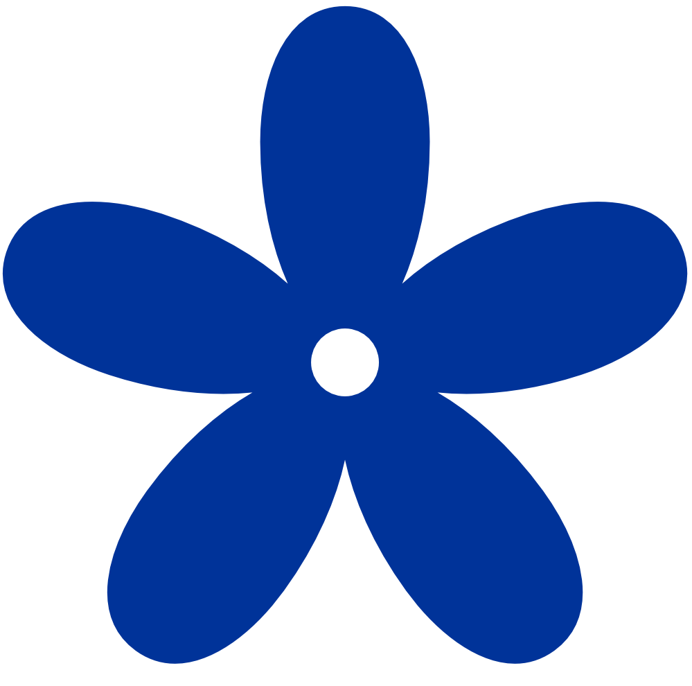 Displaying 13 Images For Blue Flower Clip Art