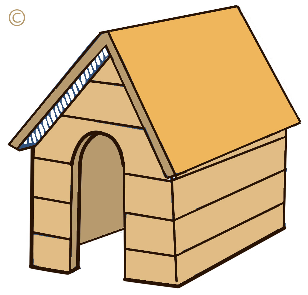 dog house clipart free