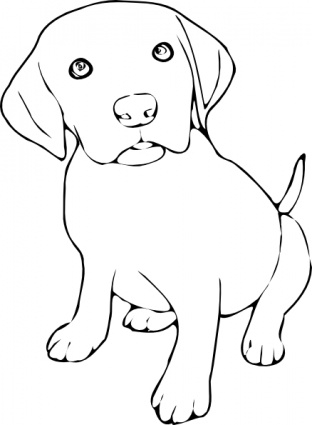 Dog Clipart Black And White-hdclipartall.com-Clip Art312