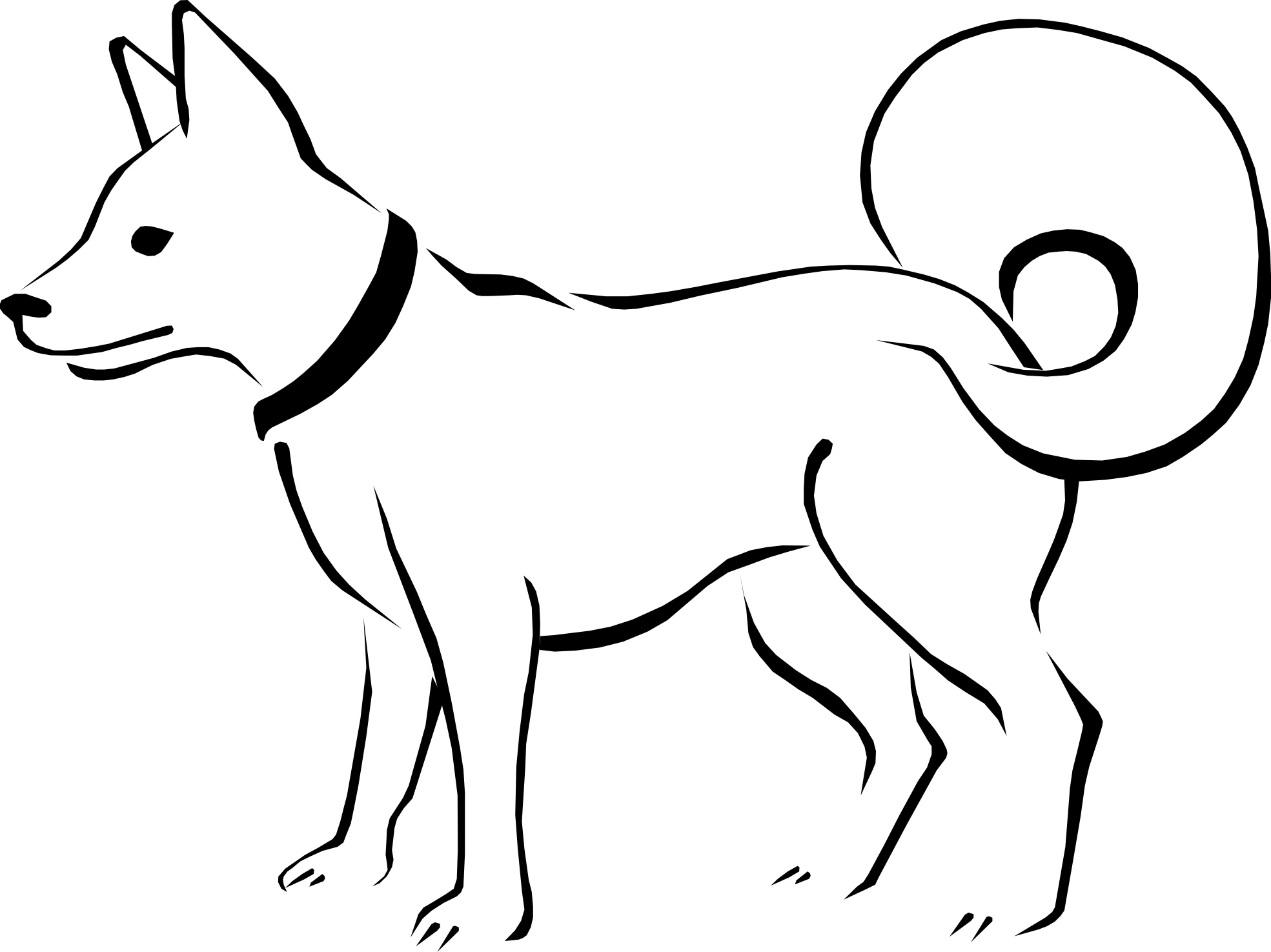 Clipart Dog Clipart Black And White