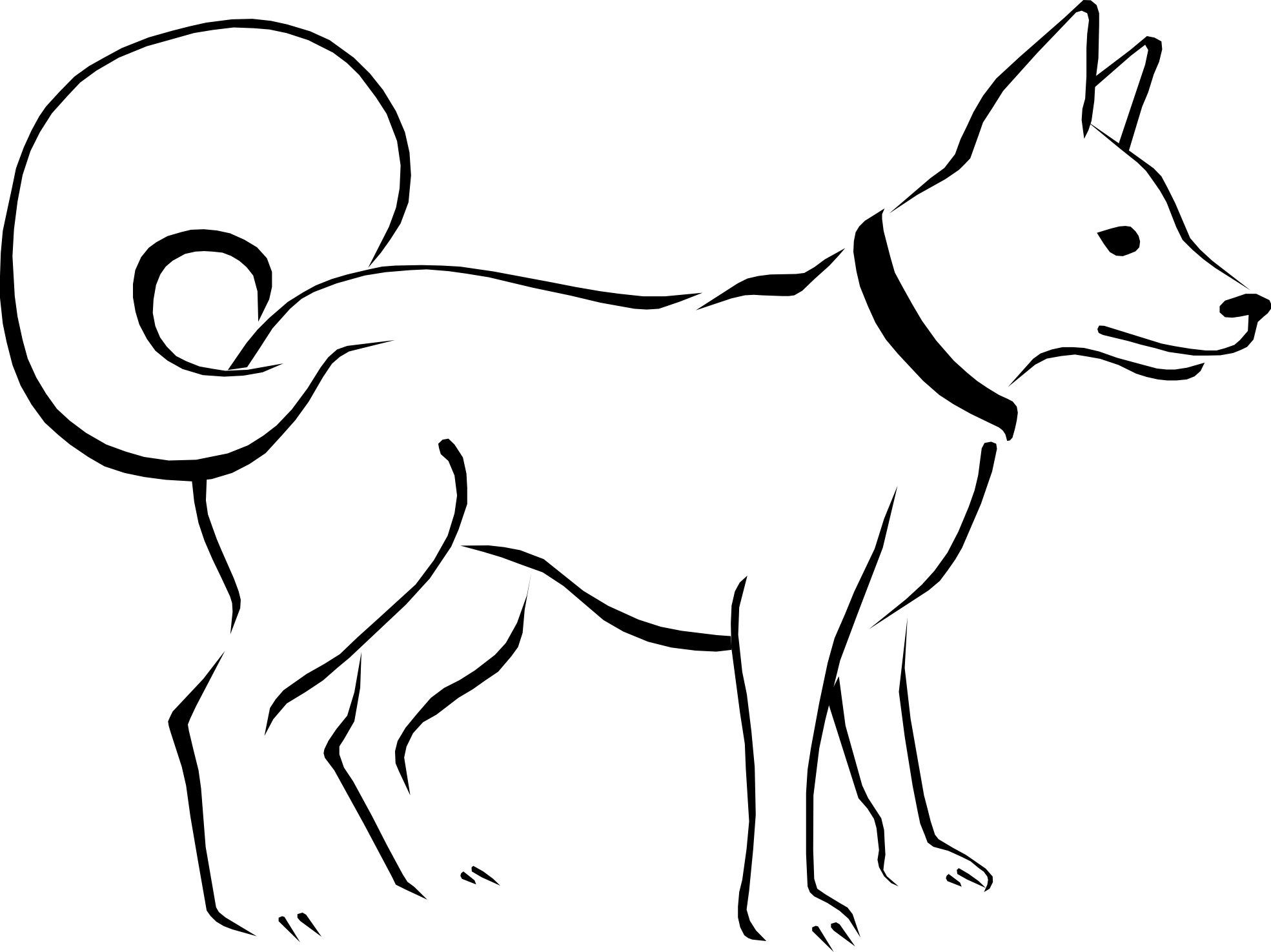 Dog black and white dog clip art black and white free clipart images 3