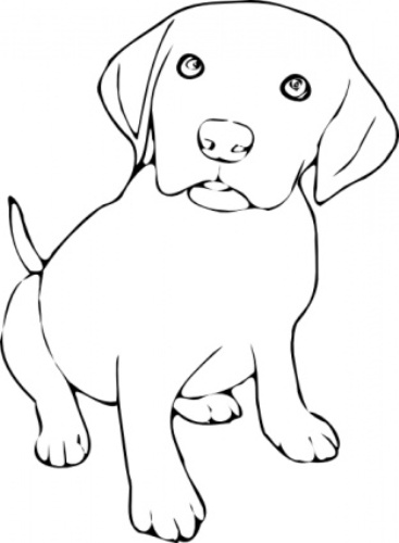 Free Dog Black And White Clipart #1