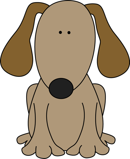 Dog For D Clip Art Image Cute Brown Dog With Floppy Ears Great For